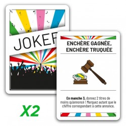 """2x jokers promo """"Enchère..."""